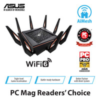 ASUS ROG Rapture GT-AX11000 Tri-Band Gaming WiFi 6 Router - HITAM