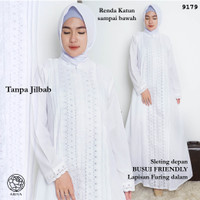 Gamis Putih Katun Jepang/Baju Haji/Gamis Ihrom/Perlengkapan Haji #9179