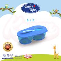 MANGKOK MAKAN BAYI BABY SAFE | DIVIDED BOWL WITH SPOON | AP010 - BLUE