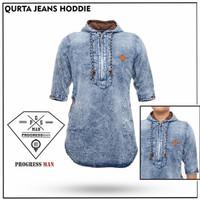 Fashion pria baju koko kurta kerudung hoodie muslim