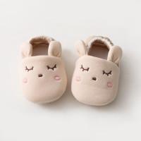 Sepatu Bayi Newborn Prewalker Karakter Animal Lucu - Krem, 13cm