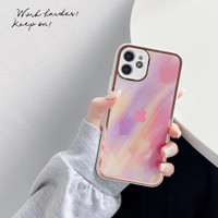 Case Iphone XR X Xs Max 7 8 6 6s Plus Watercolor Gold Plating Case - IP6s / 6, WHITE