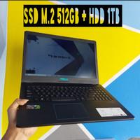 Asus Vivobook Pro F570ZD AMD ryzen 5 GTX1050 8GB ssd 512gb + hdd 1TB