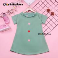 Dress Tasya uk 6-18 Bulan / Lengan Baju Tidur Anak Perempuan Balita