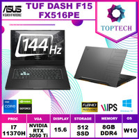 ASUS TUF DASH F15 FX516PE i7-11370H 8GB 512ssd RTX3050Ti 4GB 15.6FHD