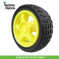 Roda Ban Wheel Tire Smart Car Arduino Dinamo Kuning Robot Otomasi