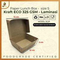 PAPER LUNCH BOX SIZE S TAKE AWAY BOX COKLAT KRAFT 290 GSM Anti Rembes