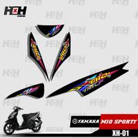 Sticker Striping Lis Variasi Motor Mio SPORTY SemiFull Racing XH-01