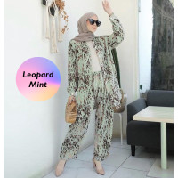 Piyama Oneset Homewear / Dailywear Wanita Tangan Panjang Trendy