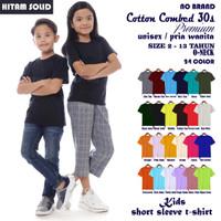 Kaos Baju Polos Anak Perempuan Cotton Combed 30s Premium Lengan Pendek - 2 Tahun