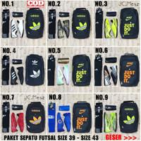 Paket Komplit Sepatu Futsal Lengkap Dengan Tas Dekker Kaoskaki Murah