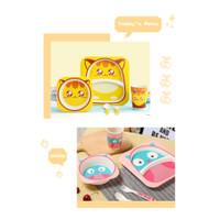Bamboo Fiber Feeding kids Set / Peralatan makan bayi/Piring anak Kotak