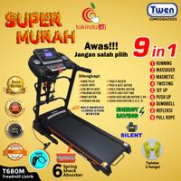 Alat Fitness Treadmill Elektrik Multifunction Murah Twen T600M Black