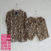 Baju Tidur AMRO Lengan Pendek Krah Celana 3/4 (BDRK)
