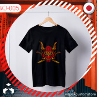Kaos Jepang Naga T-Shirt Japan ~Oni Mask~ PREMIUM KJ-005