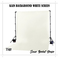 Kain Background Putih / Kain Dekorasi Backdrop / Spunbond Warna 75gr