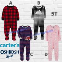 Sleepsuit Carters - Piyama Anak Cowok Cewek Branded - Baju Tidur 5T