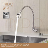 Kran Sink Fleksible Kepala Terompet Angsa Kepala Besar Faucet Dapur