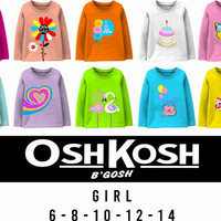 Baju Kaos Anak Perempuan Lengan Panjang Variasi Renda Kids Club - 6, Pink Sedang