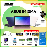 LAPTOP ASUS E410MA - INTEL DUALCORE N4020 4GB 512GB 14 W10 BACKLIGHT