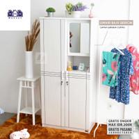 Lemari Pakaian 2820 / F2C Furniture / Lemari Kayu 2 Pintu