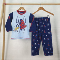 SPIDERMAN setelan Piyama Baju Tidur anak laki laki PANJANG size 4-18