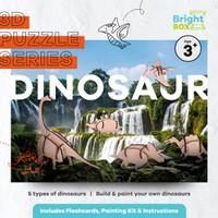 3D Puzzle Wood (Kayu) Sets - Build & Paint Your Own Dinosaur