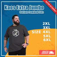Kaos Baju Distro Pria Unisex Big Size Extra Jumbo Cotton Combed 30s - Army, XXL