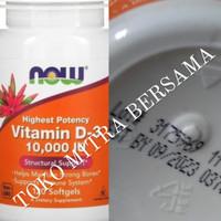 Now Foods Food Vitamin D3 10000 iu 120 Softgels Original | Now Food