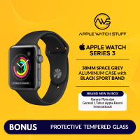 Apple Watch Series 3 GPS 38mm Space Grey Alum with Black Sport Band