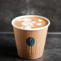 Caffe Latte - Kopi dengan Susu 12 oz Cup by BLEUM Coffee