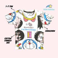 Kaos Baju Anak Balita Karakter Doraemon Fullprint Cotton Combed 30s - S