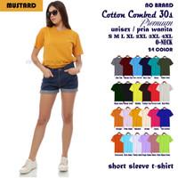Kaos Polos Wanita Cewek Perempuan Soft Combed 30s Lengan Pendek - S