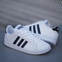 Sepatu adidas grand court / sepatu pria original casual - white black, 39