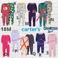 Sleepsuit Carters - Piyama Anak Cowok Branded - Baju Tidur 18M