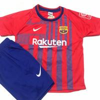 Bisa COD/Stelan baju bola anak-anak Barca/termurah/Jersey terbaru - Barca merah, 4