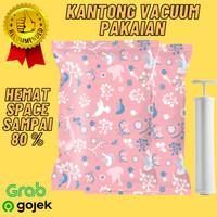 Kantong Vacum Pakaian Plastic Storage / Vacun Baju Traveling 10 Pcs
