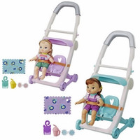 Little baby alive and kick stroller Lucy Blue