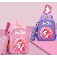 DS99 Tas Ransel anak perempuan unicorn tas punggung cewe paud SD 12345