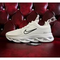 Sepatu Nike supreme 69 Sneakers terlaris pria dan wanita - Putih polos