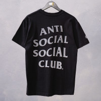 Anti Social Social Club ASSC x Undefeated Paranoid Tee Black