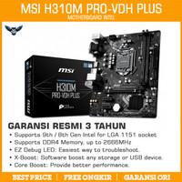 Motherboard MSI H310M Pro-VDH Plus LGA 1151 mATX DDR4 H310 Intel