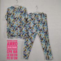 Baju Tidur AMRO Lengan Pendek Celana Panjang (CPR)