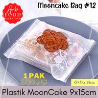 Plastik cookies bag kue bulan MOONCAKE window 9x15 bunga pink (#12)