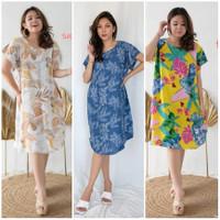 Daster Dress Bali Baju Tidur Wanita Bahan Rayon Adem Nyaman Dipakai