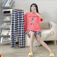 AJWPedia Piyama 3in1 Import Dewasa   Baju Tidur Wanita   Piyama Wanita