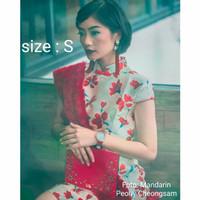 Cheongsam size S - Mandarin Peony - RED SHANGHAI - Cheongsam Dress