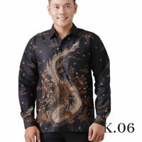 Baju Kemeja Pria Lengan Panjang Eksklusif Design Batik - Kantor Pesta - K.06, M