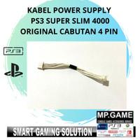 Kabel Soket Power Supply PS3 SuperSlim/ Mesin PS3 4pin