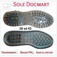 HARGA PABRIK Outsole Alas Bawah Sole Sepatu Karet Mentah Docmart Boots